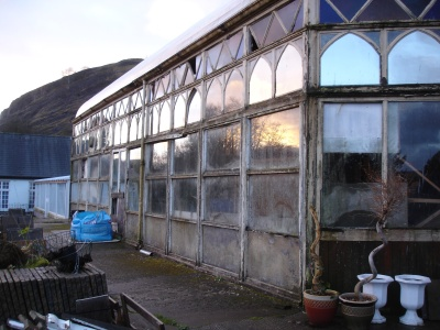 Craig y Nos Castle Conservatory in 2006 - before restoration
