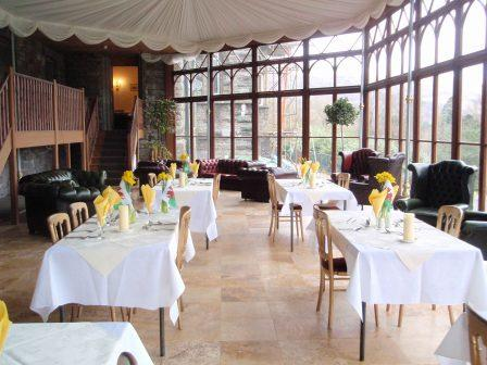 Craig y Nos Castle Conservatory Conference Venue set for dining