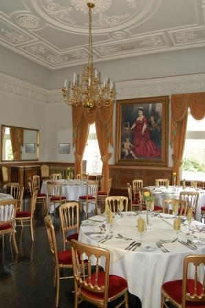 Craig y Nos Castle South Wales - Dining in the Music Room