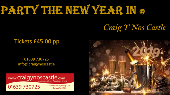 New Years Eve Poster Design by Michael for Craig y Nos Castle 2018