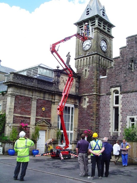 Access Platform inspection of the Clock tower which will is due some restoration work on the roof supports