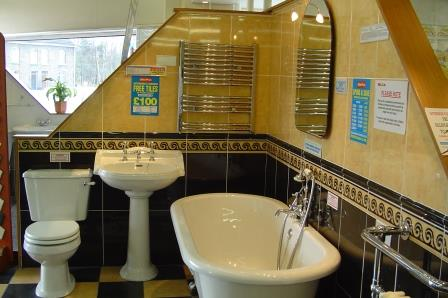 We liked this bathroom in the showroom and installed it more or less as is, in AB21 en-suite