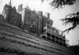 Brecon Beacons Hotel Craig y Nos Castle in hospital era with old balconies for patients