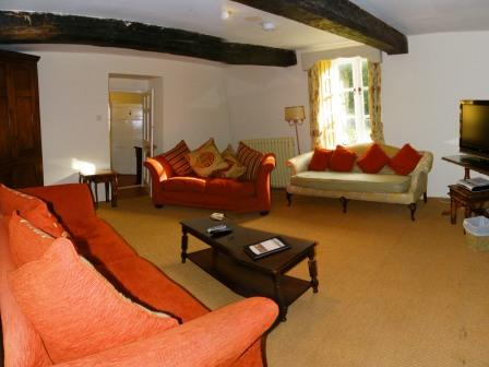 Brecon Beacons self catering Holiday Cottage Craig y Nos farmhouse lounge